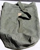 Ancien Véritable Sac De Paquetage Polochon Militaire Toile Kaki Armée Française Soldat 793 JM LAGNEAU - Equipement