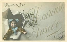 Cp  -  Enfants ,    Heureuse Année , J 'apporte La Joie                 A977 - Scènes & Paysages