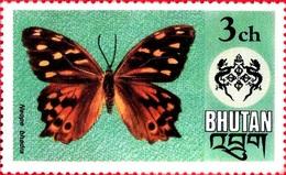 Neope Bhadra (Papillon) - Bhoutan - 1975 - Bhoutan