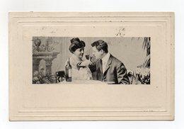 """Cartolina Tematica """" Innamorati """"- Viaggiata Nel 1903 ? - (FDC15659) - Coppie"""