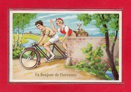 BELGIQUE-CPA FLORENNES - CARTE A SYSTEME DE 10 VUES DE FLORENNES - Florennes
