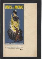 CPA Publicité Publicitaire Réclame Non Circulé R Casas Anis Del Mono Espagne Spania Art Nouveau Singe - Advertising