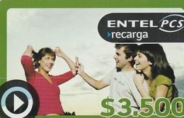 TARJETA TELEFONICA DE CHILE (PREPAGO) Recarga Entel PCS - 3 People - 1439. 30-06-2007. ENT-PCS-002C. (309) - Chili