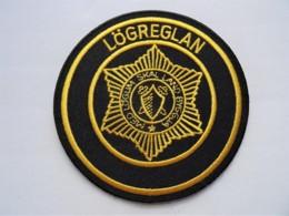 RARE POLICE Patch Island Iceland Lögreglan - Polizei