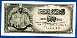 Yougoslavie -  500 Dinara 1/8/1970  -  Pick # 84  --  état SPL - Yugoslavia