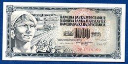 Yougoslavie -  1000 Dinara 4/11/81  -  Pick # 92  --  état SPL - Yougoslavie