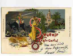 C 364  -  Souvenir De Monte Carlo !  -  La Roulette La Source De Ma Force !  -  Le Casino - Voyagé En 1900 - Cartes Postales