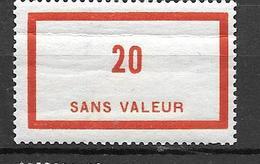 FRANCE FICTIF N°F87**  Mnh   Sans Charnière - Fictifs
