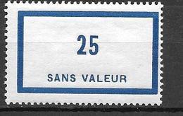 FRANCE FICTIF N°F88**  Mnh   Sans Charnière - Phantomausgaben