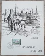 FDC 1967 Sur Document - YT N°1503 - BOULOGNE SUR MER - FDC