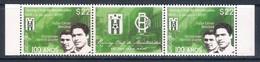 Uruguay (2019) Football: Centenary Of Racing Club De Montevideo - Strip Of 2 Stamps + Central Label (MNH) - Calcio