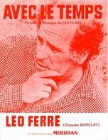 LEO FERRE - AVEC LE TEMPS - 1971 - EXCELLENT ETAT PROCHE DU NEUF - - Music & Instruments