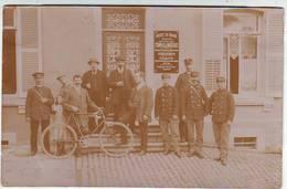 A IDENTIFIER . CARTE PHOTO . AGENCE EN DOUANE . COMPAS Et MOUTAUX Postée De VILLERUPT En 1912 . - To Identify