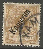 German Cameroun - 1897 Numeral  3pf  Fine Used     Sc 1c - Colony: Cameroun