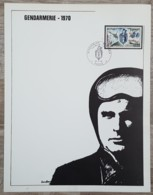 FDC 1970 Sur Document - YT N°1622 - GENDARMERIE NATIONALE - FDC