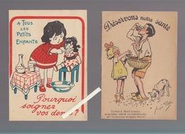 Santé / 2 Plaquettes / Comité Défense Contre Tuberculose / Soigner Vos Dents Et Illustrateur Redon - Health