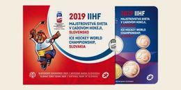"""Slovaquie 2019: Coffret BU Des 8 Pièces + Médaille """"Championnat Hockey Sur Glace"""" - Disponible En France - Slovaquie"""
