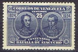 Venezuela 1924 - Battle Of Ayacucho - Mi. 116  Yv. 154 - MH, Avec Charniere, Ungebraucht - Venezuela