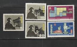 DDR 1966 Michel Nr.n 1159, 1160, 1161, 1162, 1163 Alle ** Postfrisch, Leipziger Frühjahrsmesse, Nationale Volksarmee - Ungebraucht