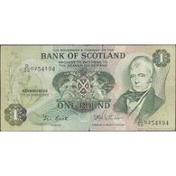 TWN - SCOTLAND 111f1 - 1 Pound 7.10.1983 D/50 - 0254194 - Tears G/VG - 1 Pound