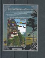 Bhutan - 2017 -Monastery  Of Bhutan  -  Miniature Sheet  - MNH, ( Religion, Buddhism) - Bhoutan