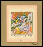 Ungarn 1971 - Mi-Nr. Block 85 B ** - MNH - Miniautren - Hungary