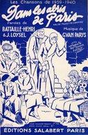 CHANSON DE GUERRE 39/40 - DANS LES ABRIS DE PARIS - EXCELLENT ETAT PROCHE DU NEUF - BELLE ET REALISTE ILLUSTRATION - Autres