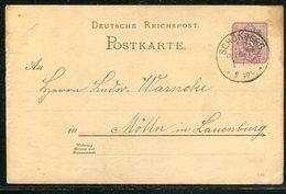 Deutsches Reich / 1888 / KOS-Stempel SCHOENBERG (MECKLB) Auf Postkarte (17024) - Deutschland