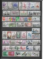 FRANCE - 1960 - ANNEE COMPLETE ** MNH - 53 TIMBRES - COTE = 85 EUR. - France