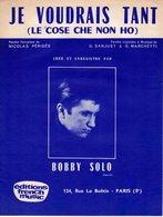 BOBBY SOLO - 1963 - JE VOUDRAIS TANT - EXCELLENT ETAT COMME NEUF - - Other