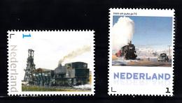 Trein, Train, Locomotive, Eisenbahn Nederland  Persoonlijke Zegel  Mijn Trein + Oude Loc   En Auto - Treinen