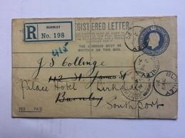 GB GEORGE V 1920 Registered Cover - Burnley Internal Re-directed To Southport - 1902-1951 (Könige)