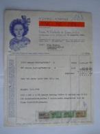 """1960 Vanhecke & Zonen Roeselare Puding-powder """"PANDA"""" Factuur Voor Antwerpen Taxe 167 Fr - Alimentaire"""