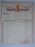 1960 Van Deun-Poppeliers Turnhout Peperkoek- En Suikerbakkerij Pain D'épices De Heidebloem Factuur Antwerpen Taxe 43 Fr - Food