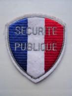 POLICE Patch France Frankreich Securite Publique - Polizei