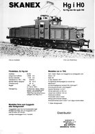 Catalogue SKANEX Modellen 1970s SJ HG-lok Spår HO Skala 1/87 Metall Messing - En Suédois - Other