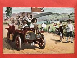 BEBES DANS UN AUTOMOBILE - BABIES IN EEN OLDTIMER - AUTO - SPEELKAART HARTEN 5 - CARTE A JOUER - COEUR - Bébés