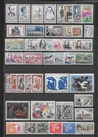 FRANCE - 1961 - ANNEE COMPLETE ** MNH - 44 TIMBRES - COTE = 73 EUR. - France