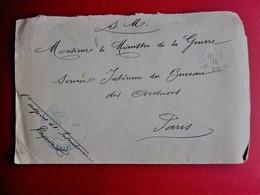 WWI-1916 Ministre Guerre 1914-18 Marcophilie Lettre SM Service Franchise Intendance Militaire Trésor & Postes SP*36* - Marcophilie (Lettres)