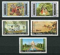 (CL 118) Ajman  Ob Michel N° 176 A à 179 A + 180 A - Tableaux De Maîtres Asiatiques, Palais - Ajman