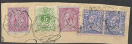 V647: RENAIX Op  N°45+46+46+2x 48: Telegraaf 5 DEC 95 / Fragment - 1884-1891 Léopold II