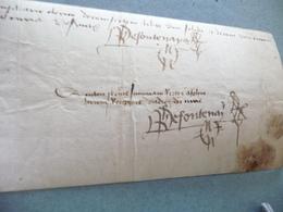 Velin Signé Phillipe De Fontenay 03/03/1458 In 4 Obl Quittance De Ses Gages Toulouse - Manuscritos