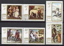 (CL 118) Ajman  Ob Michel N° 271 A à 276 A -Tableaux De Chiens - - Ajman