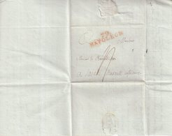"FRANCE : MARQUE POSTALE . REV . "" 79 NAPOLEON "" . EN ROUGE . TAXEE . 1808 . - Marcophilie (Lettres)"