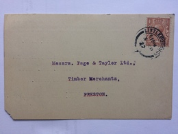 GB GOERGE V 1922 Postcard Littleborough Rochdale Postmark - `James England - Sawmill` Commercial - 1902-1951 (Rois)