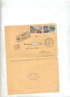 Lettre Recommandee Caen RP Sur Touquet Vittel - Marcophilie (Lettres)
