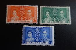 ASCENSION Série Couronnement De GEORGES VI ** MNH - Groot-Brittannië (oude Kolonies En Protectoraten)