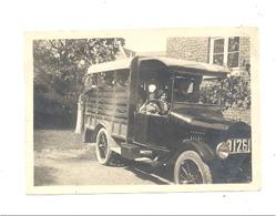 Photo ( +/- 6 X 9 Cm) Camion, Taxi, Oldtimer - On Promène Toute La Famille -  Marque ? A SITUER (b250) - Automobiles
