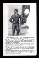 17063-GERMAN EMPIRE-MILITARY PROPAGANDA POSTCARD German Soldier SONG .WWII.DEUTSCHES REICH.Postkarte.Carte - Lettres & Documents