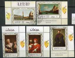 (CL 118) Ajman  Ob Michel N° 419 A à 423 A  - Tableaux De Maîtres Italiens - - Ajman